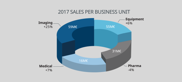 Key figures - Revenue by business unit